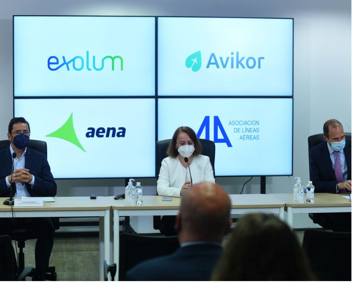 Aena y la Asociación de Líneas Aéreas (ALA), principales apoyos de Avikor para fomentar el uso de los combustibles sostenibles de aviación